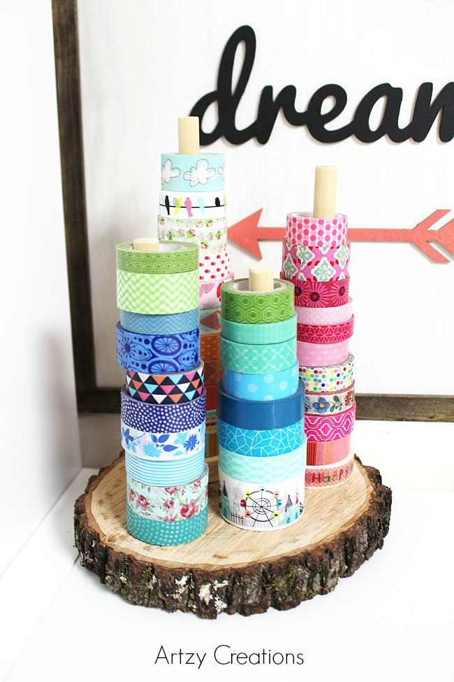 Easy-Rustic-Washi-Tape-Holder-Artzy Creations 3a