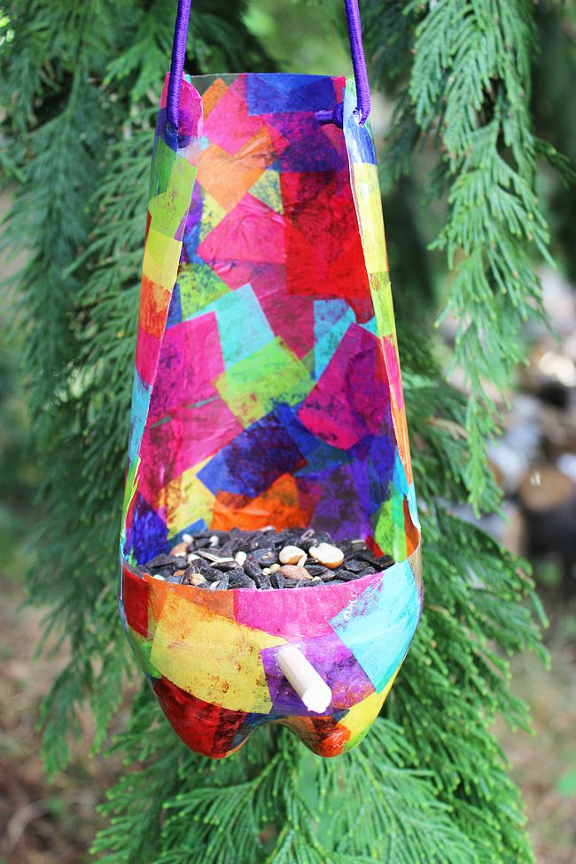 Recycled-Bird-Feeder-For-Kids-Artzy Creations 8