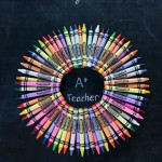 Teacher Crayon Wreath