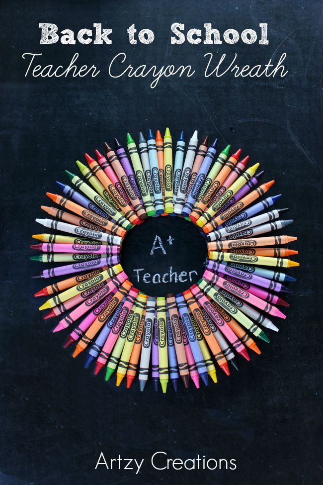 Teacher-Crayon-Wreath-Artzy Creations6
