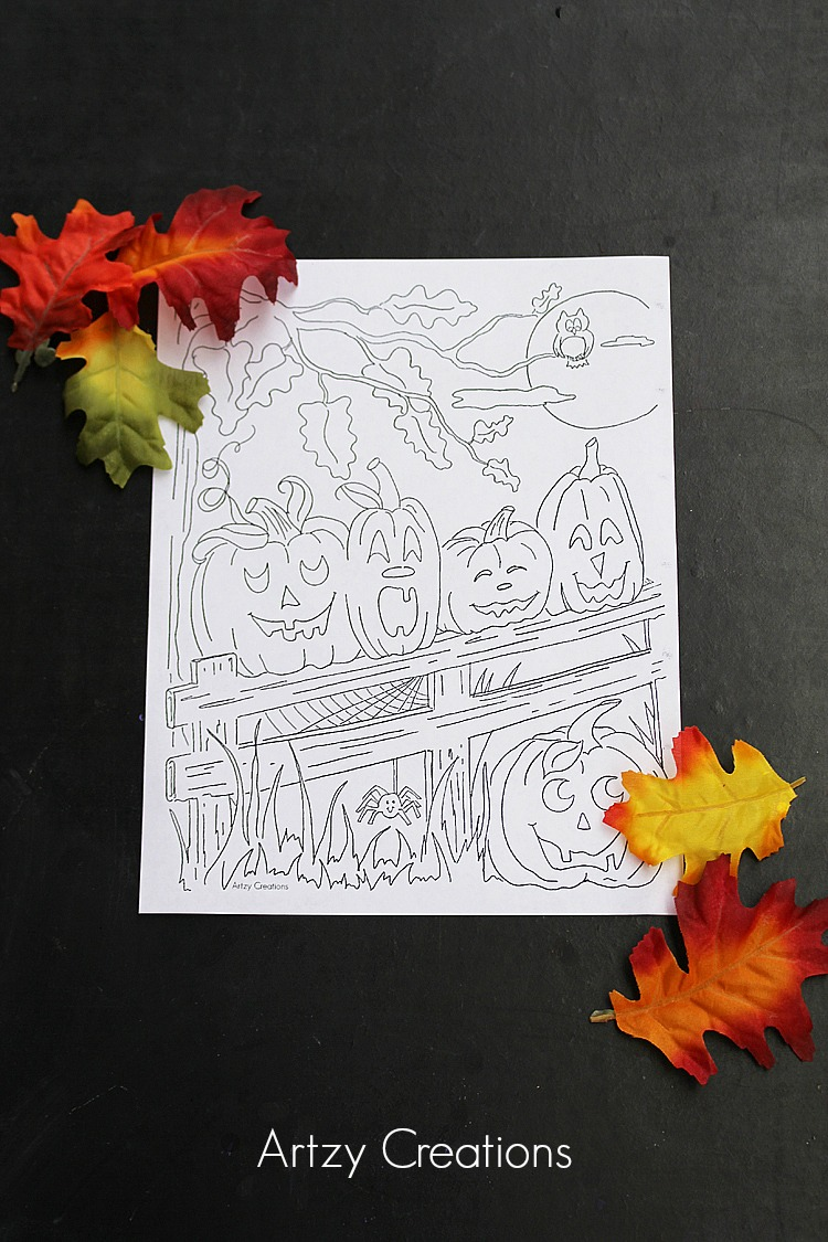 5-Little-Pumpkin-Coloring-Page-Artzy Creations 1
