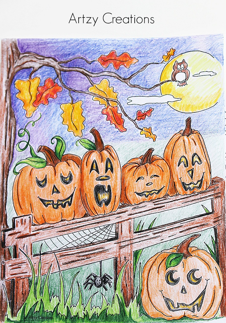 5-Little-Pumpkin-Coloring-Page-Artzy Creations 2