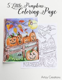5-Little-Pumpkin-Coloring-Page-Artzy Creations 3
