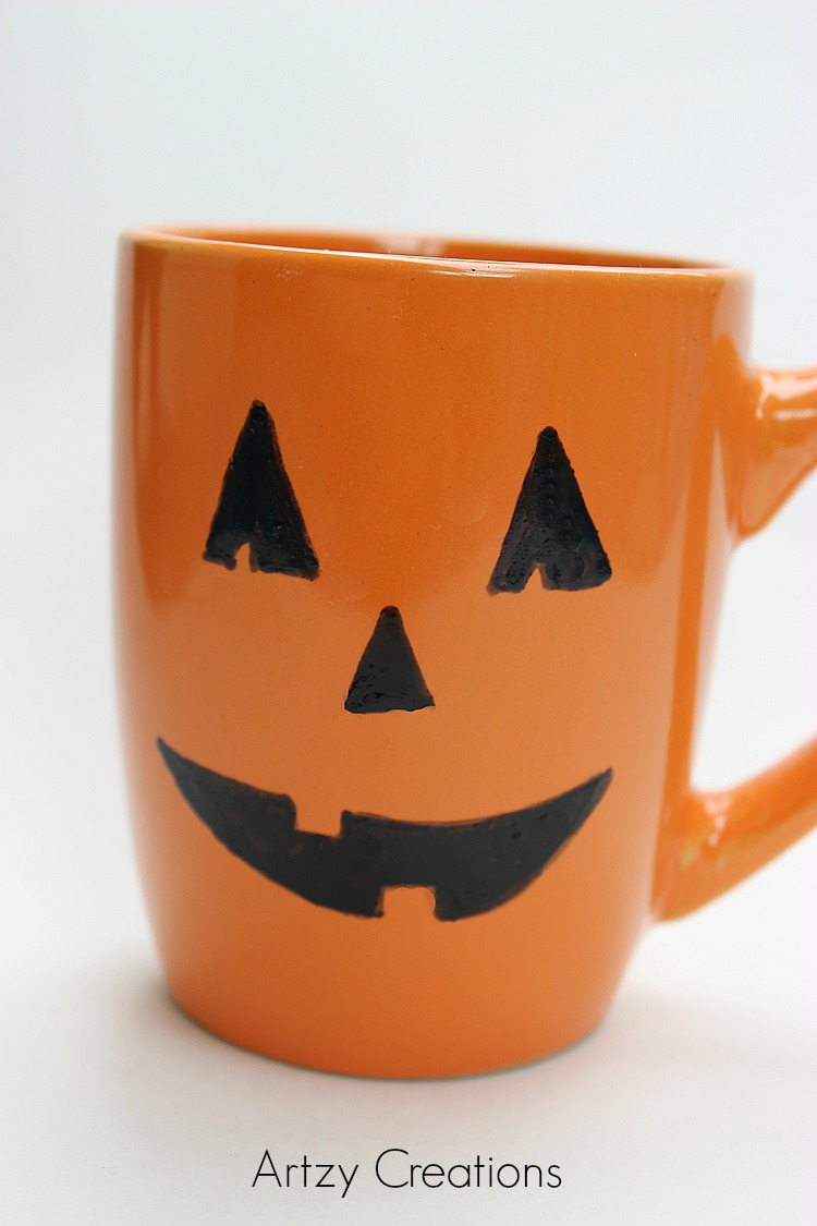 DIY-Pumpkin-Mug-Artzy Creations 1