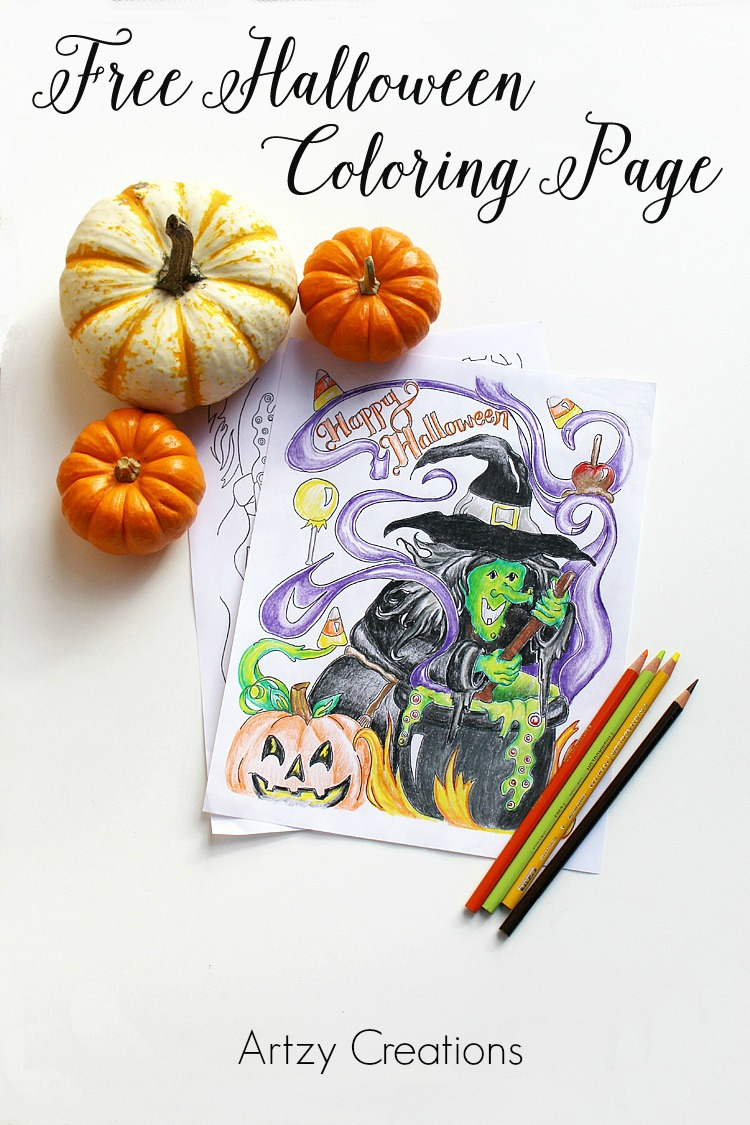 Free-Halloween-Coloring-Page-Artzy Creations 3a
