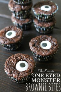 One Eyed Monster Brownie Bites