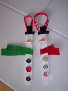 popsicle stick snowment ornaments