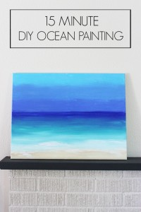 15 Minute DIY Ocean Painting