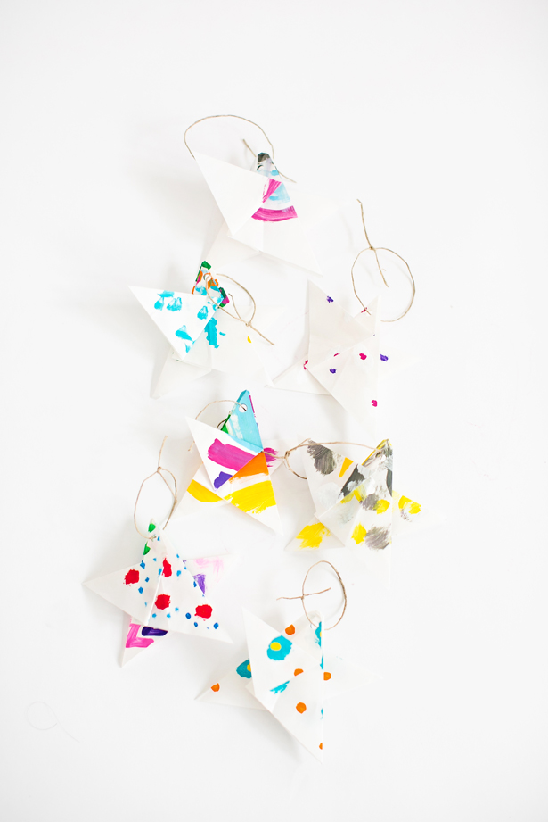 15-painted-origami-paper-star-ornaments