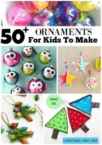 50+ DIY Ornaments For Kids1