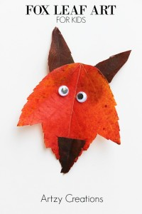 Fox-Leaf-Art-For-Kids 1 a