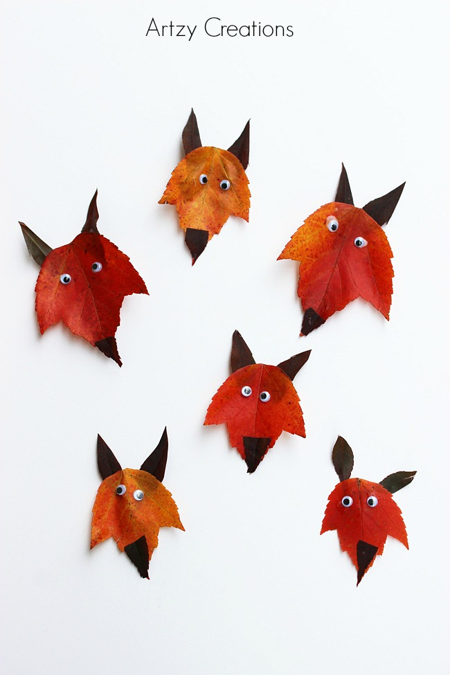 Fox-Leaf-Art-For-Kids 3