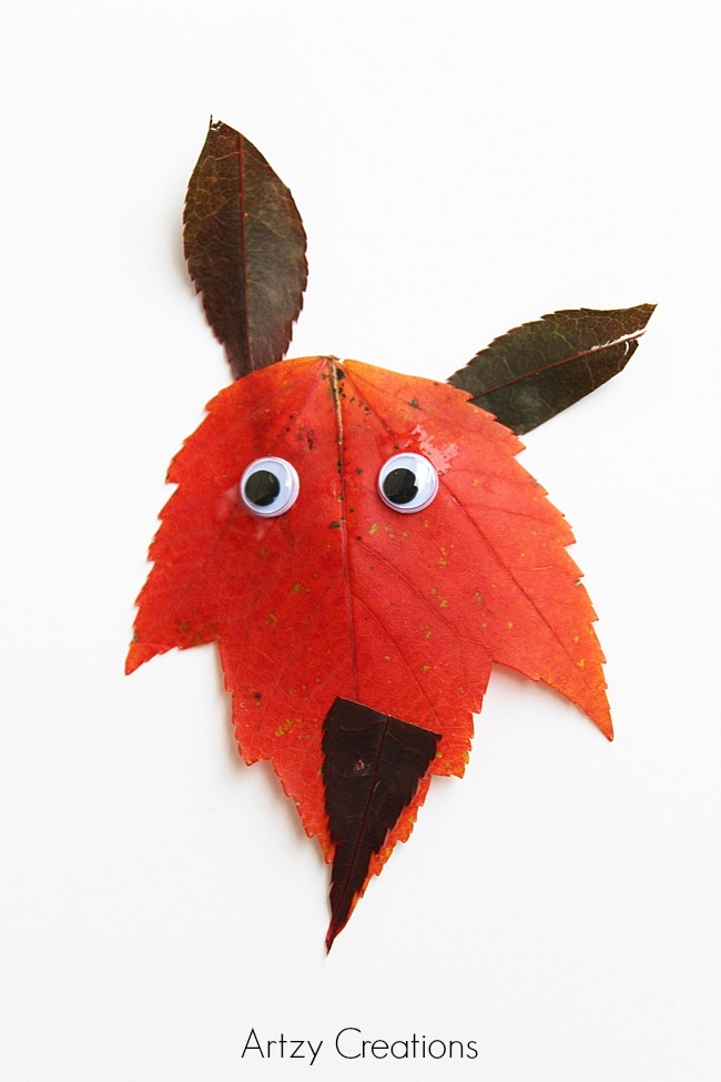 Fox-Leaf-Art-For-Kids 4
