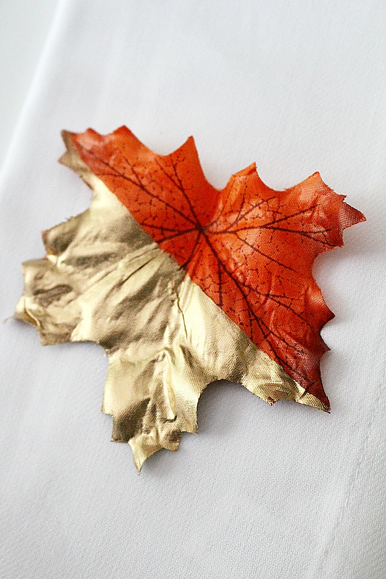Gold-Color-Blocked-Leaves-Artzy Creations 8