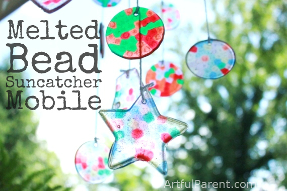 Melted Bead Christmas Ornaments.