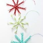 Paper Straw Snowflake Ornaments