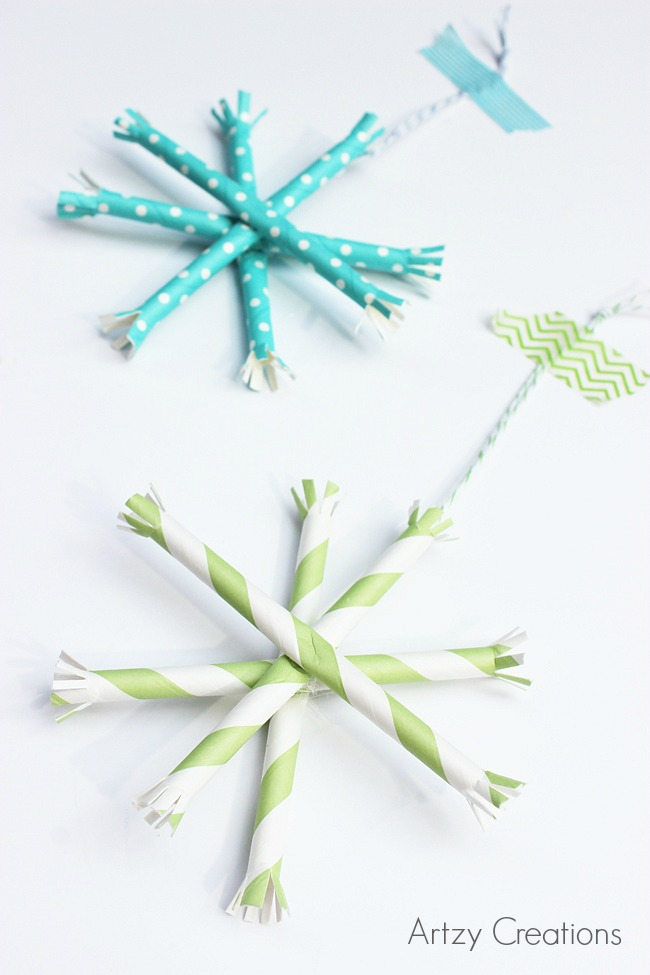 Paper-Straw-Snowflake-Ornaments-Artzy Creations 6