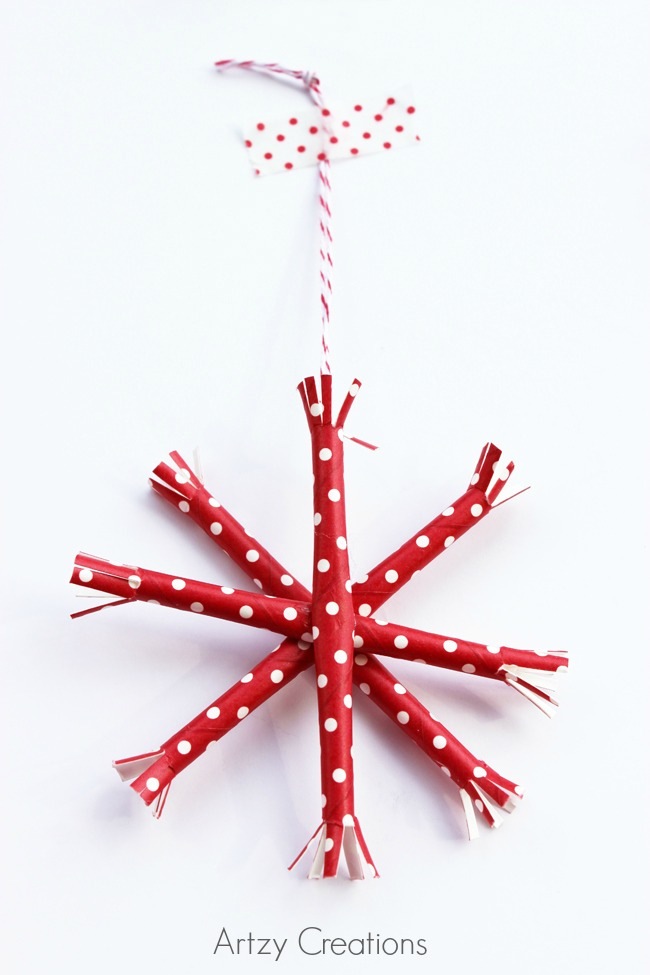 Paper-Straw-Snowflake-Ornaments-Artzy Creations 7