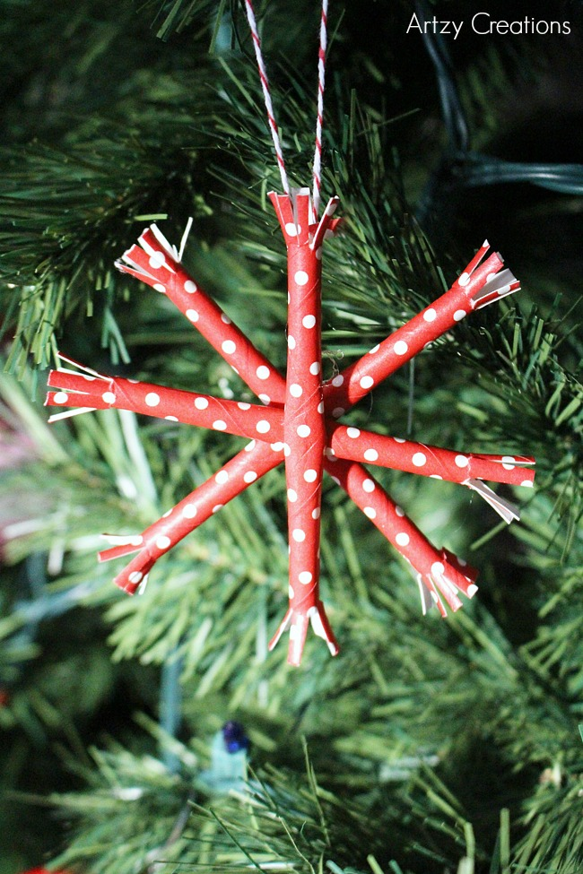 Paper-Straw-Snowflake-Ornaments-Artzy Creations 8
