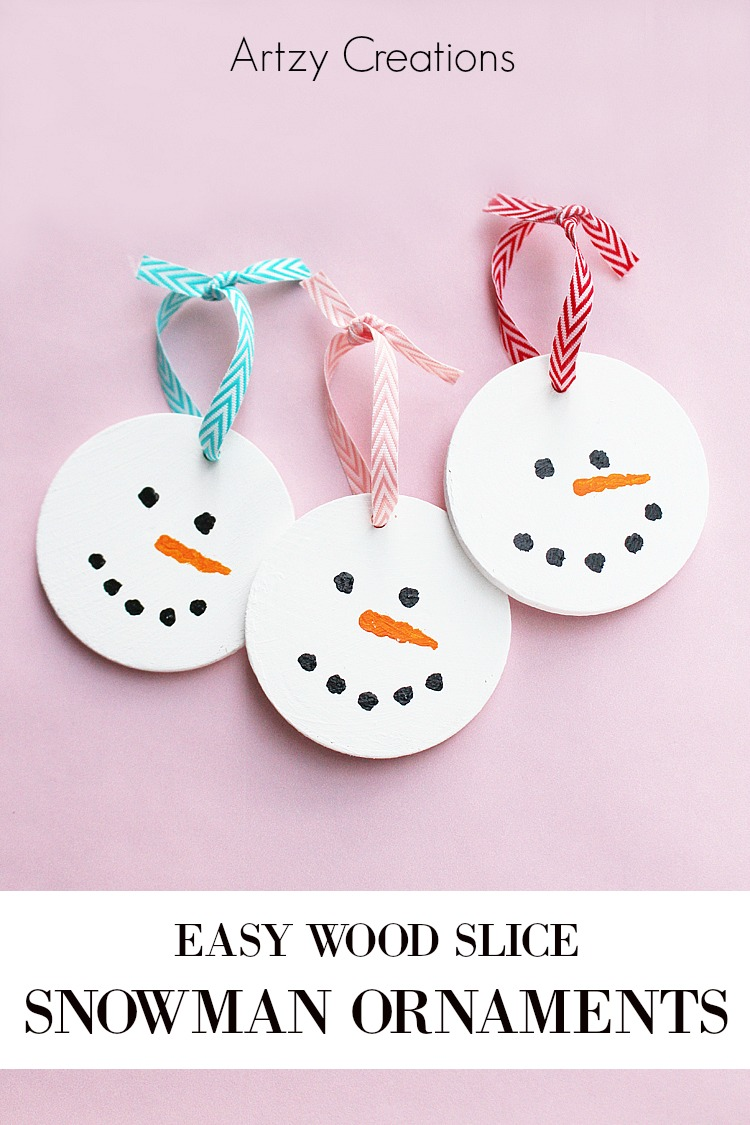 Wood-Slice-Snowman-Ornaments-Artzy Creations 4a