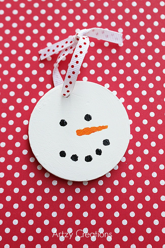 Wood-Slice-Snowman-Ornaments-Artzy Creations 5a