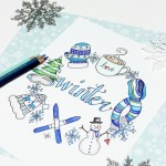 Free Winter Coloring Page