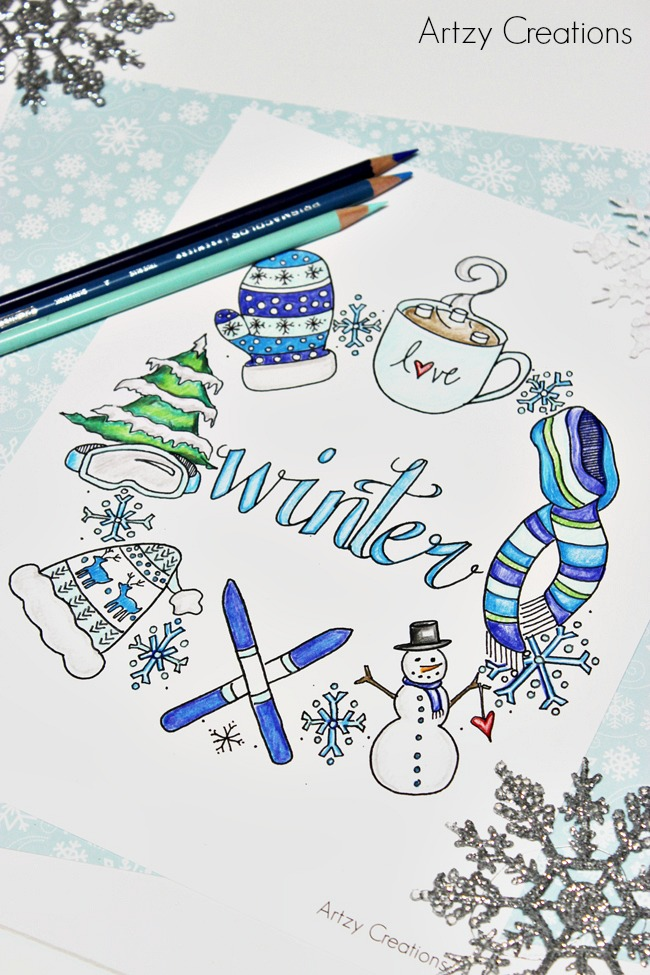 Free-Winter-Coloring-Page-Artzy Creations 8