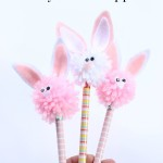 Bunny Pom Pom Pencil Topper