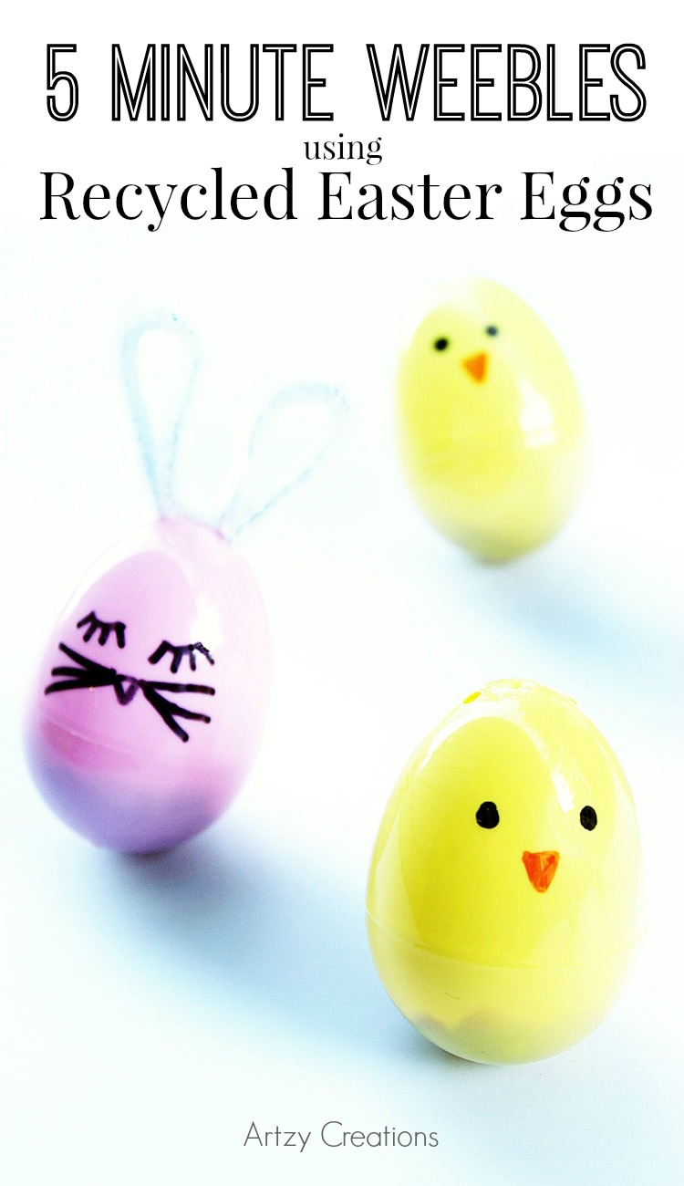 Make Weebles Using Recycyled Eggs-Artzy Creations