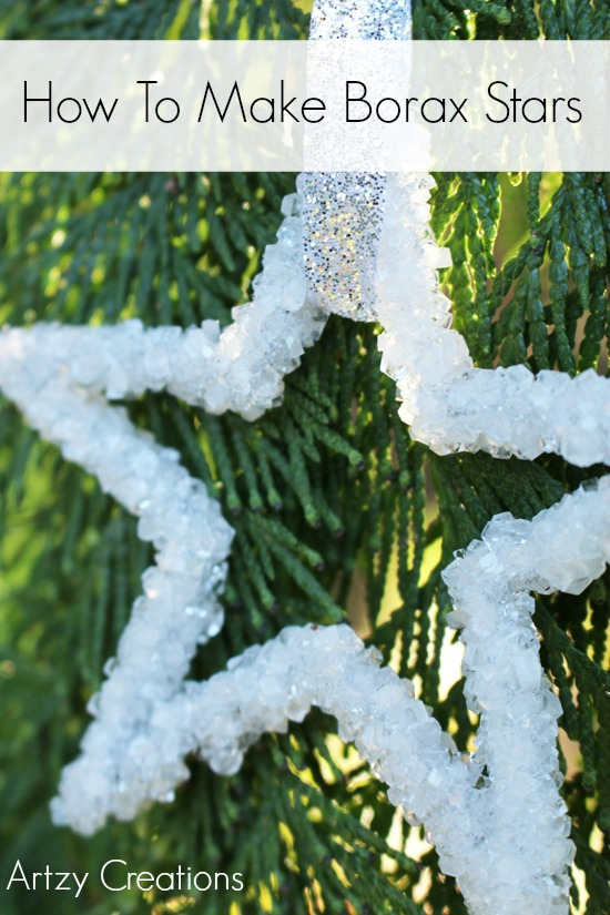 Christmas Crafts - How to make borax ornament... Time to decorate the Christmas Tree!