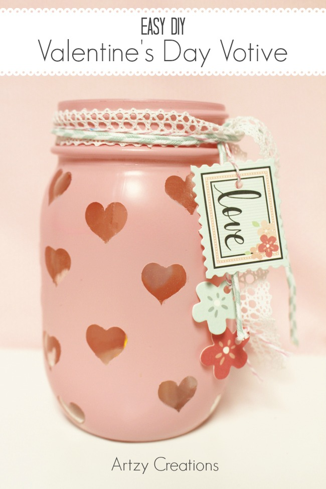 Easy-DIY-Valentine's Day-Votive-Artzy Creations 3