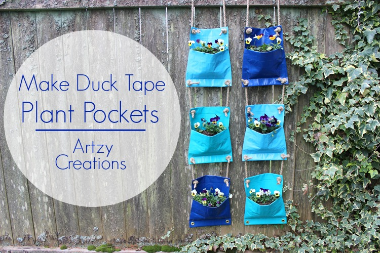 Duck-Tape-Plant-Pockets-Artzy Creations 1
