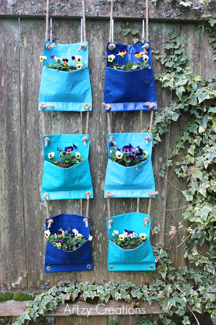 Duck-Tape-Plant-Pockets-Artzy Creations 3