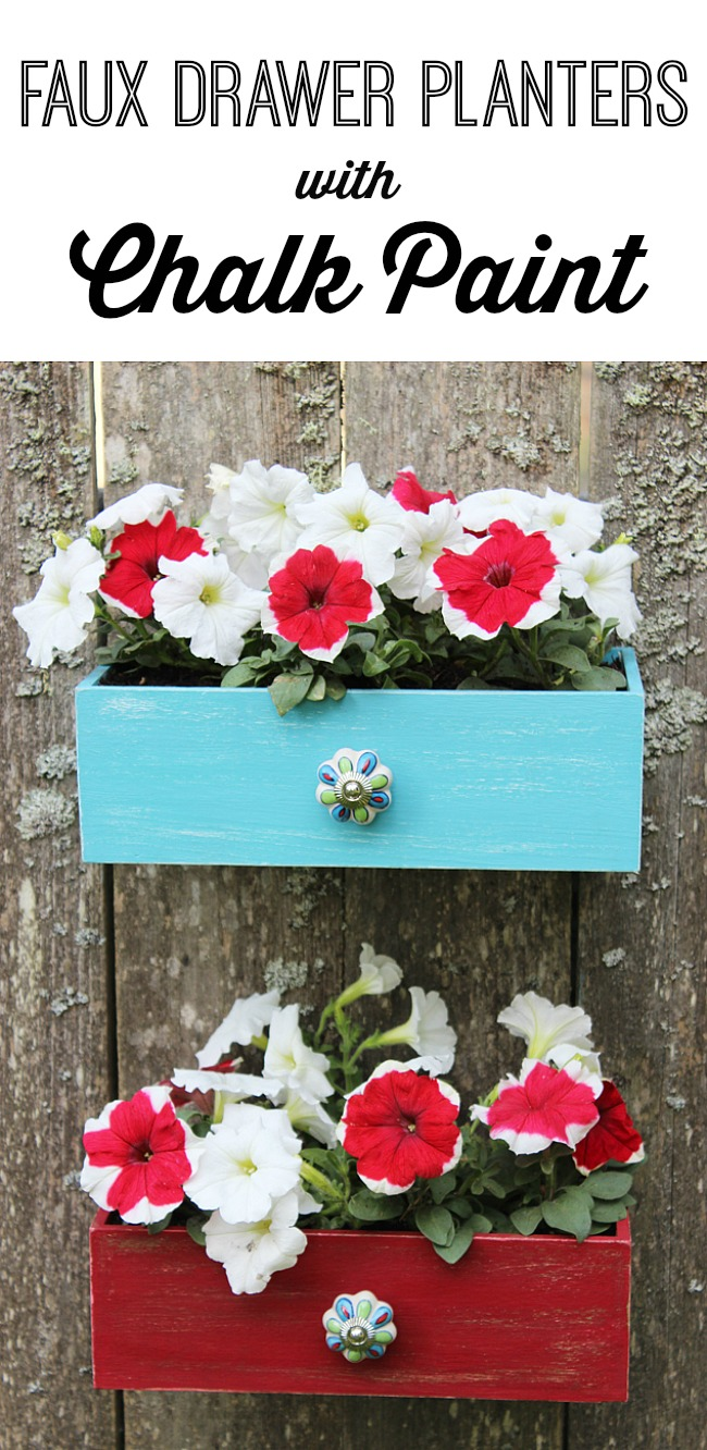 Faux-Drawer-Planters-with-Chalk-Paint-1 Artzy Creations