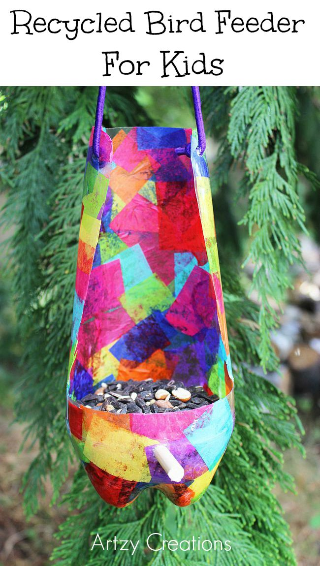 Recycled-Bird-Feeder-For-Kids-Artzy Creations 8a
