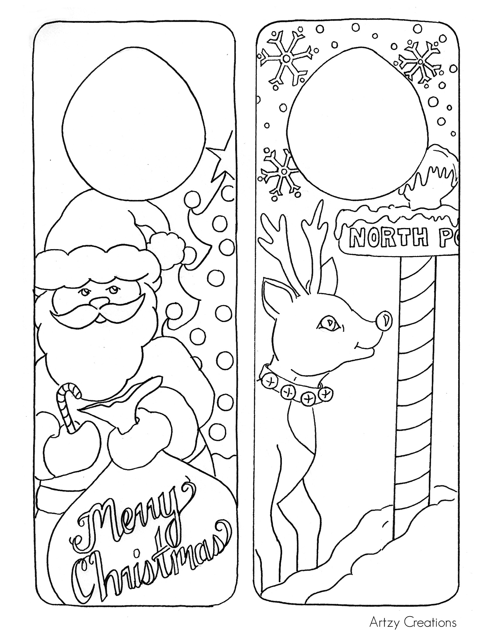 Christmas Coloring Page - Door Hanger Printables - The ...