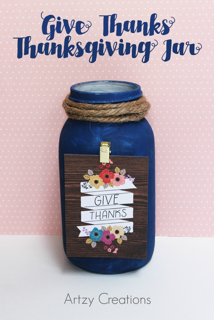 Thanksgiving Craft - Make this GIVE THANKS JAR to start a new Thanksgiving tradition! You can have all of your family and friends write down on a little piece of paper a couple of things they are thankful for this Thanksgiving. After Thanksgiving Dinner pass around the jar and take turns reading everyone's thankful thoughts! TUTORIAL HERE: https://www.the36thavenue.com/give-thanks-jar-tutorial/